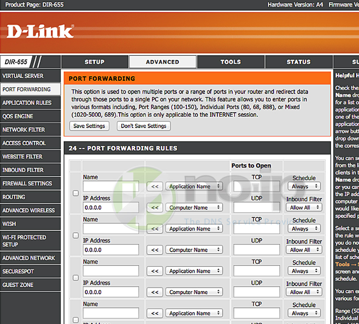Port Forwarding on a D-Link Router