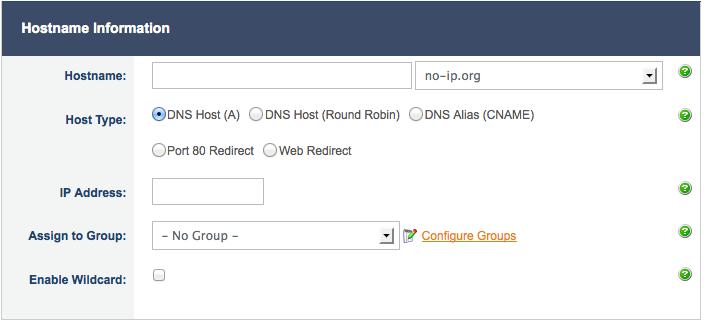 Add Hostname Page