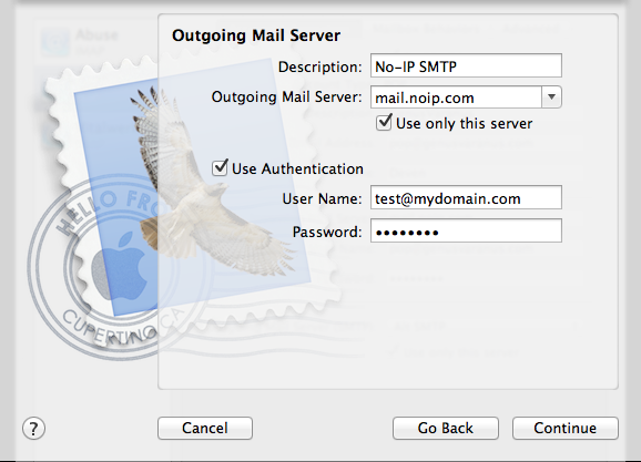 Setting up POP/IMAP on Mac OS X 10.8.x with Mail App Image 2