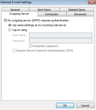 Configuring Microsoft Outlook For Use With No-IP POP/IMAP Service Image 9