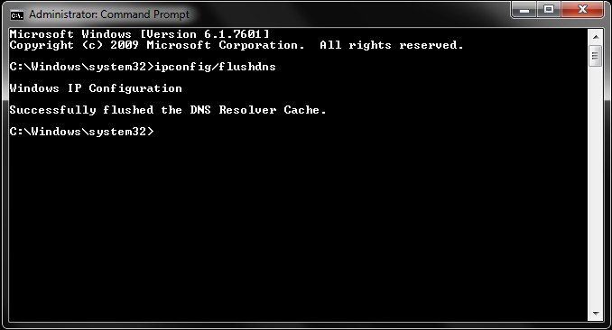 flush windows dns cache