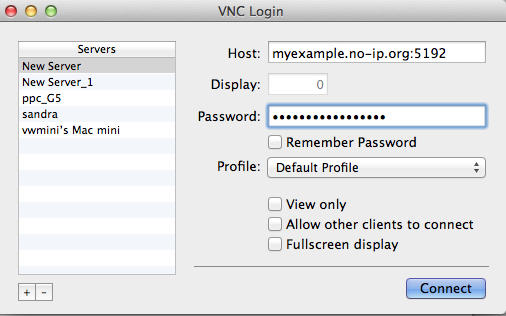 VNC Chicken Login