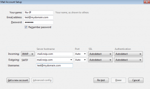 Thunderbird Mail Account Settings