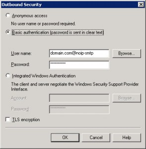 Exchange 2003 Basic Authentication