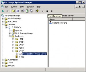 Exchange Default SMTP Virtual Server