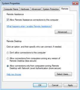 Enable Remote Desktop