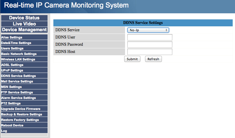 Foscam ddns configuration support no ip knowledge base for Camera email