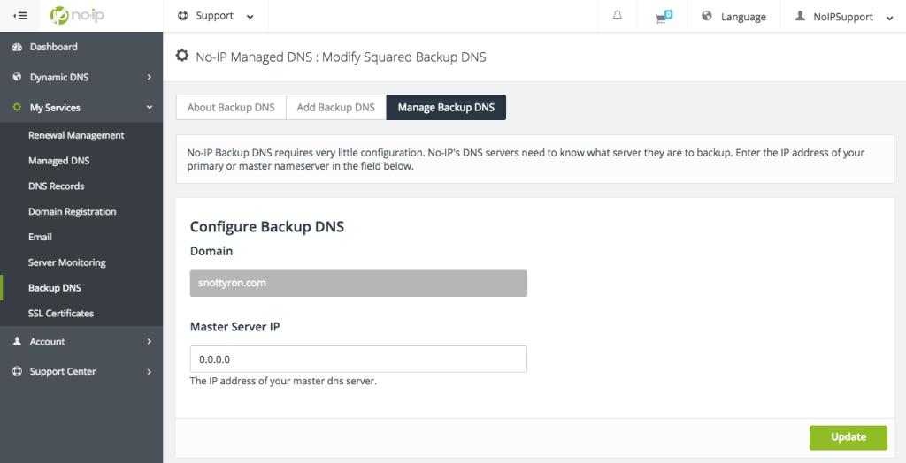 Configure Squared DNS