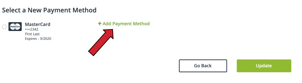 payment method update