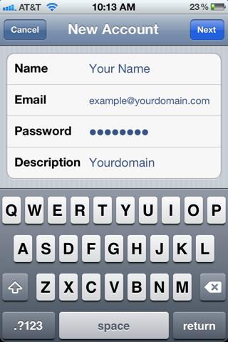 configurer messagerie free sur iphone 5