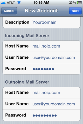 how to set up hotmail on iphone setting up pop imap email on an iphone support no ip 20316