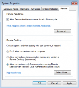 Enable Remote Desktop