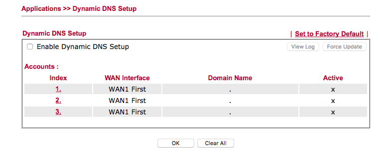 Setup and Configure Dynamic DNS in a Draytek Router