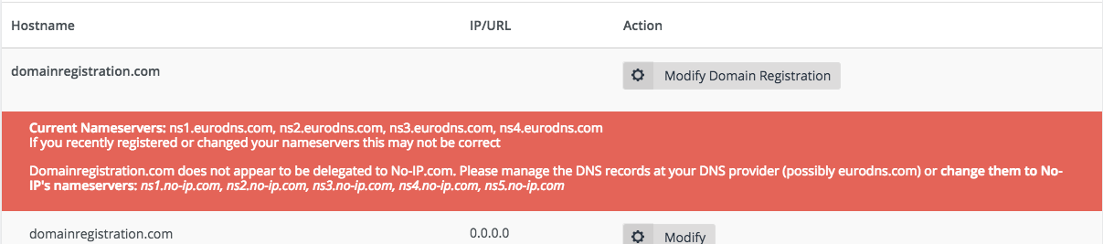 Error says my nameservers are not properly delegated